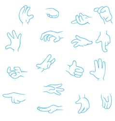 Cartoon Hands collection vector