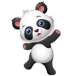 Cartoon panda presenting vector