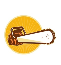 Chain saw vector