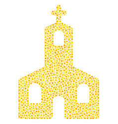 christian church mosaic of small circles vector image