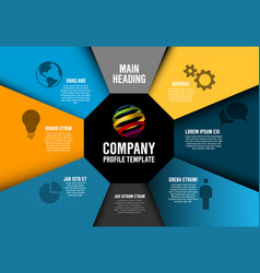 Company profile infographic diagram template vector