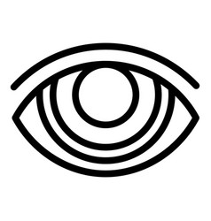 crazy eye icon outline style vector image