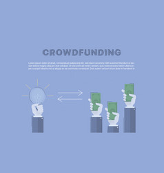 crowdfunding concept business vector image