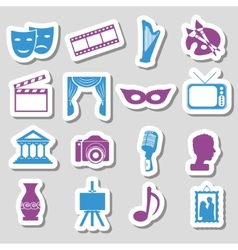 culture stickers vector image