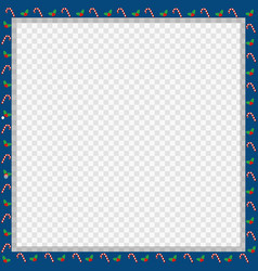 Cute christmas or new year square frame with vector
