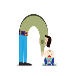 dad and child the baby is crying vector image