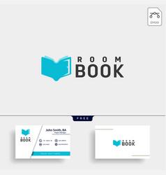 door education book library logo template icon vector image