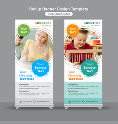 education and growth roll up banners vector image