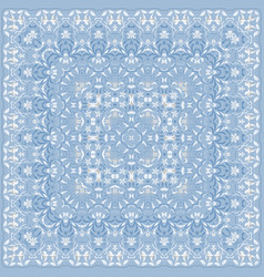 elegant square light blue abstract pattern vector image
