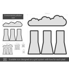 Environmental pollution line icon vector