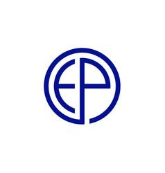 ep letter monogram logo icon vector image