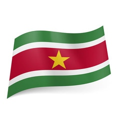 Flags icon Suriname 01 vector