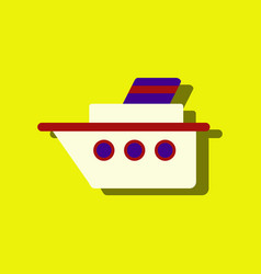 Flat icon design collection ship silhouette in vector