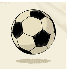 Football sketch vector