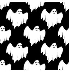 Ghost Halloween seamless pattern vector