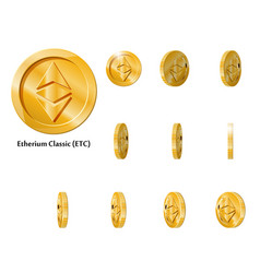 gold rotate etherium frames vector image
