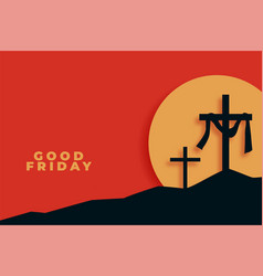 Good friday background in flat style design vector
