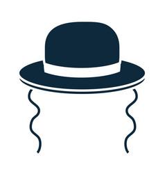 Hanukkah orthodox jewish hat accessory vector