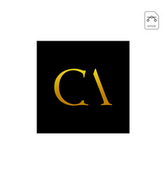 Initial ac ca a c logo template vector