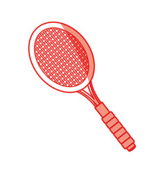 Isolated tennis racket vector