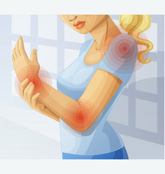 Joint pain cartoon vector