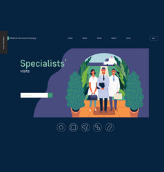 medical insurance template - specialists visits vector image
