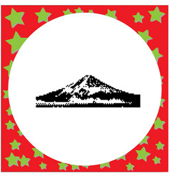 mount fuji japan black 8-bit vector image