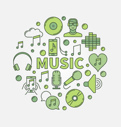 music round vector image