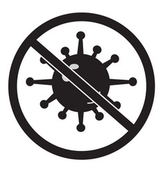 No bacteria icon on white background no virus vector