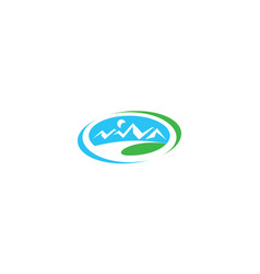 outdoor mountain logo icon vector image