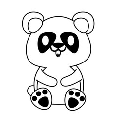 panda bear cute animal cartoon icon image vector image