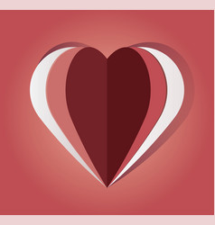 paper cut out heart vector image