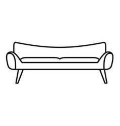 Room sofa icon outline style vector