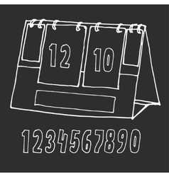 Scoreboard drawn by hand vector