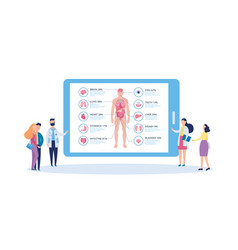 screen with body anatomy infographic and people vector image