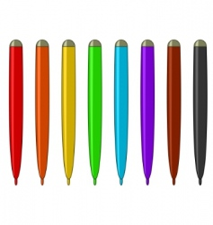 Set of multicolored felt-tip pens vector