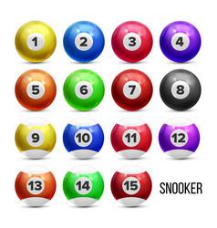 snooker billiard balls with numbers set vector image