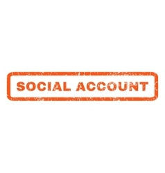 Social Account Rubber Stamp vector