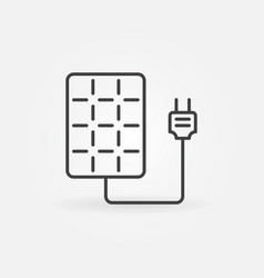 Solar panel with socket icon vector