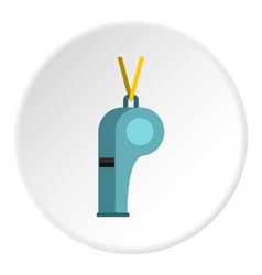 Sport whistle icon circle vector