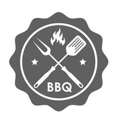 Stamp bbq vector