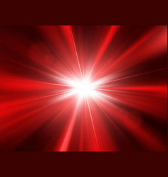 Star with lens flare and rays vector