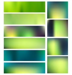 Summer blurred backgrounds set vector image