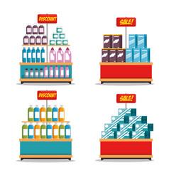 Supermarket store consumerism concept vector