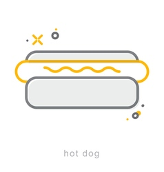 Thin line icons Hot dog vector image vector image