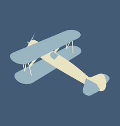 toy airplane flying in flat style on background vector image