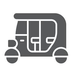 tuk tuk glyph icon car and vehicle rickshaw sign vector image