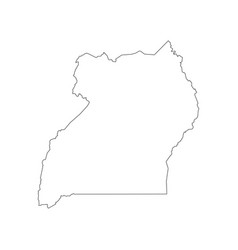 Uganda map outline vector