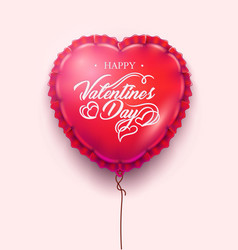 Valentines day card heart air balloon vector