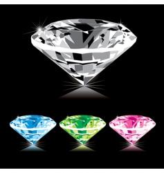 Varicolored diamond vector